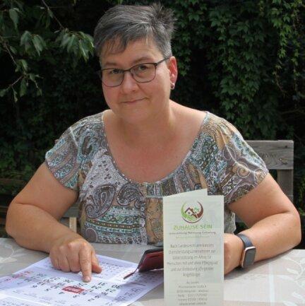 Ilka Steinert bei der Planung ihrer Betreuungsbesuche.