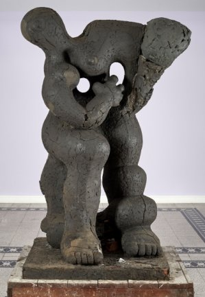 "Jacques Lipchitz - Blickfang der Chemnitzer Ausstellung: Jacques Lipchitz' Plastik ""Benediction""."