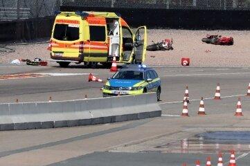 Auf dem Sachsenring geschah ein schwerer Unfall.