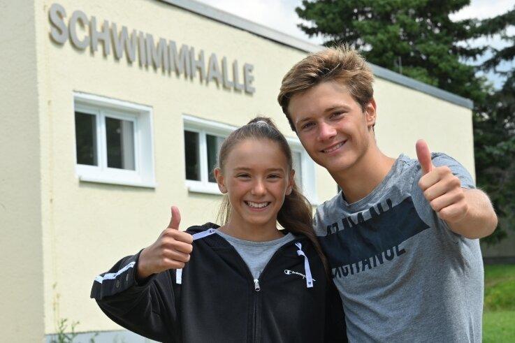 Sie trainieren gemeinsam in Chemnitz und sind als Geschwister ein Herz und eine Seele: Jenny und Jeremy Kunz vom SV Zwickau 04.